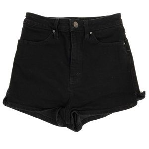 🍁 UO BDG Black Pin Up Super High Rise Shorts 27